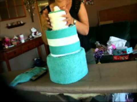 how to make a towel cake finished rolling.wmv