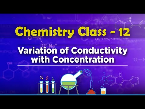 Variation of Conductivity with Concentration - Electrochemistry - Chemistry Class 12