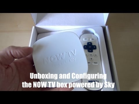 Unboxing and configuring the NOW TV Box powered by Sky