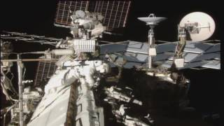 Space Station Crew Members Walk in Space with an Eye to the Future