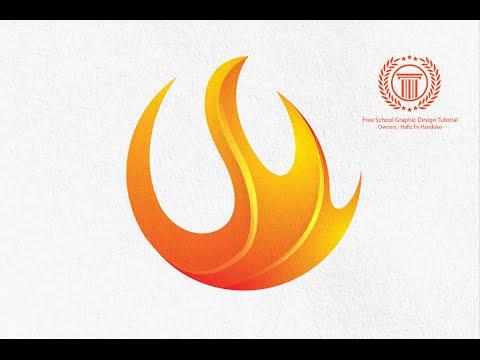 Circle Flame Fire Logo Design Tutorial in Adobe illustrator CS6 - How to design a Logo
