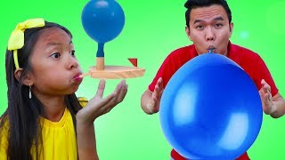 Wendy Pretend Play w/ Water Balloon Boat Race Swimming Pool Kids Toys
