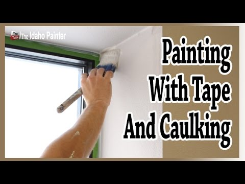 TIPS CAULKING WINDOWS.  Painting with Frogtape & clear caulking.