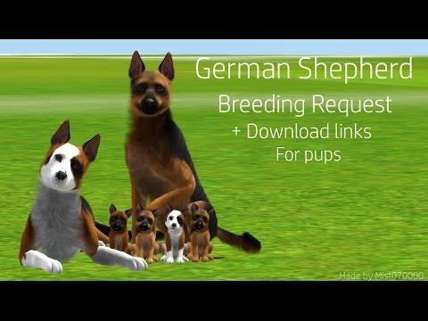 Breeding German Shepherds ~ Sims 3 Pets