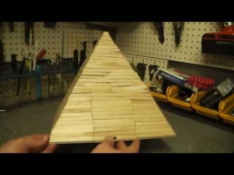 Popsicle Stick Pyramid With Firecrackers
