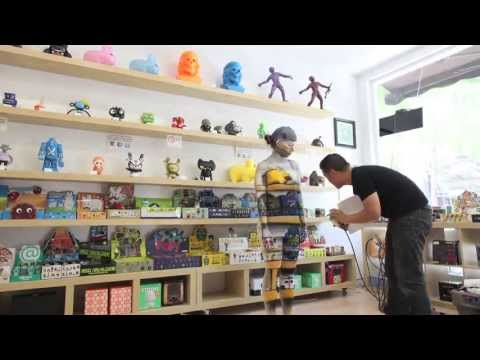 Liu Bolin Inspired Body Painting Time Lapse at a Custom Vinyl Toy Store