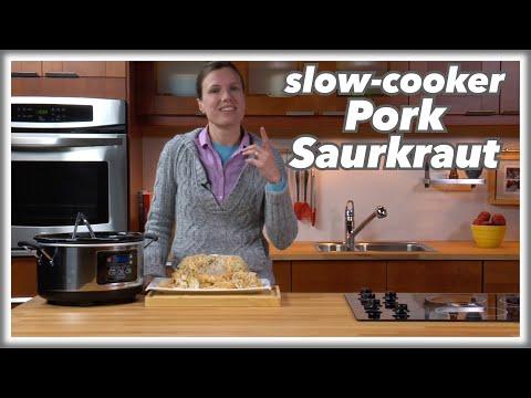 Slow Cooker Pork and Sauerkraut Recipe - LeGourmetTV