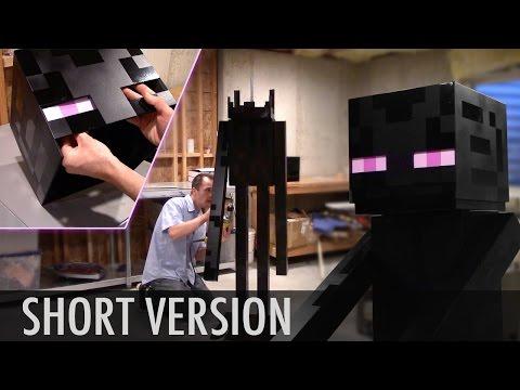 Time lapse: Wood Enderman build - Minecraft