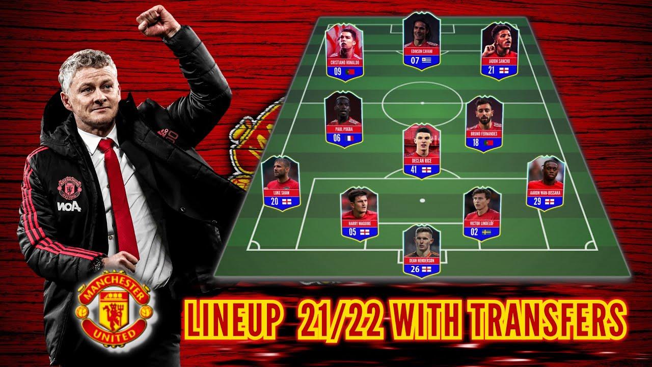 MAN UTD Potential Lineup 21/22 With Transfers! Feat Jadon Sancho, Rice, Ronaldo