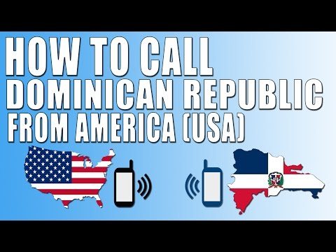 How To Call Dominican Republic From America (USA)