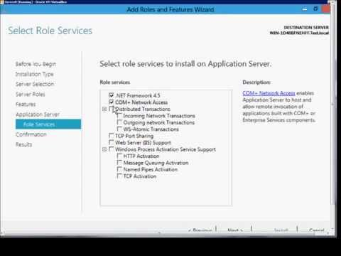 How to install the Application Server Role in Microsoft Windows Server 2012
