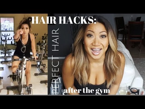 HAIR HACKS: how to get PERFECT HAIR after the gym