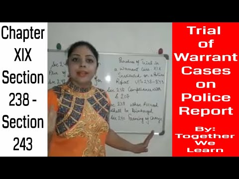 Trial of Warrant Case on Police Report || CrPC ||