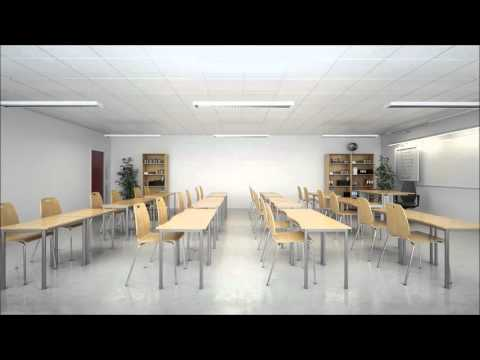 Listen to the difference sound absorption makes to a classroom