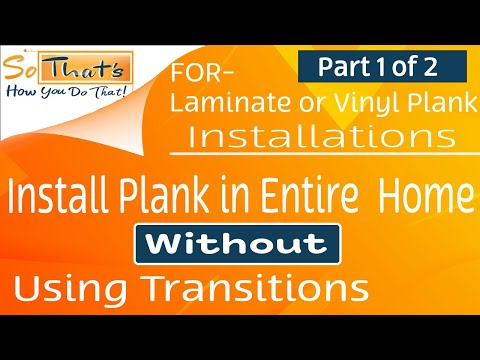 Installing planks into multiple rooms- Laminate and Vinyl Plank Installation(part 1)