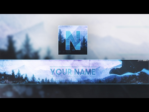 Banner & Avatar Youtube Template [FREE Download] FOR 860!SUBS (New Cool Effects)