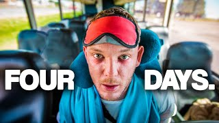 We took the longest bus ride in America (100 Hour Challenge with Yes Theory)
