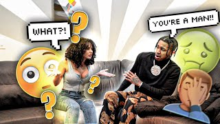 I TOLD TEE SHE WAS BORN A MAN... **SHE FLIPPED!!** 😳