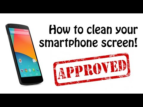 How To Clean Your Smartphone Screen With No Budget!