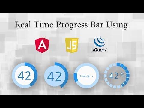 Real time Progress Bar Using Angular | jQuery | JavaScript