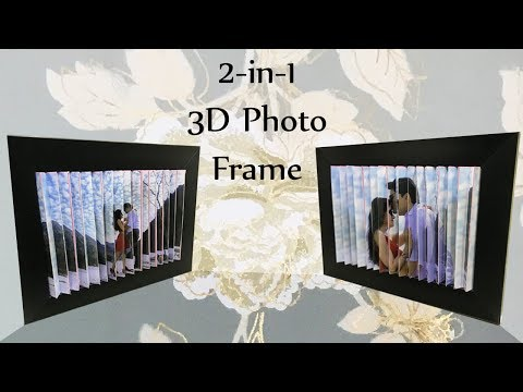 3D Photo Frame | DIY| 2 pictures in 1| 3D Optical Illusion Picture Easy Tutorial