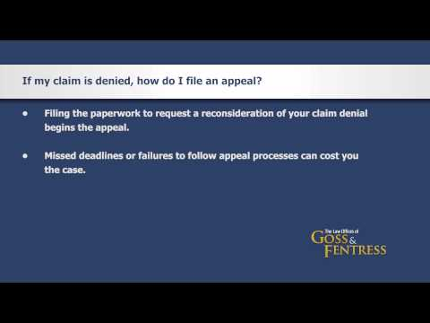 If my SSI Claim is denied, how do I file an appeal?