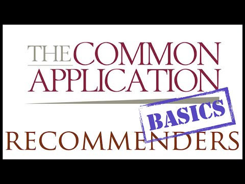 The Common Application: Instructions for Recommenders