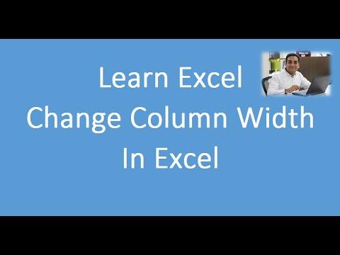 Change Width of Column In Excel