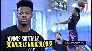 Dennis Smith Jr Goes CRAZY at ELITE NBA Open Run!! Jumps TOO DAMN HIGH! RemyRunsMiami