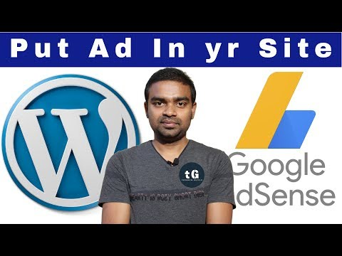Add Google AdSense Code inside a Quick Adsence - Put google ads on your website