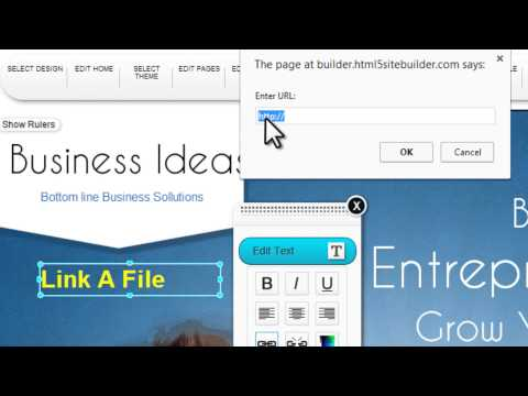 TrendyTools HTML5 site builder Link a File Text 04