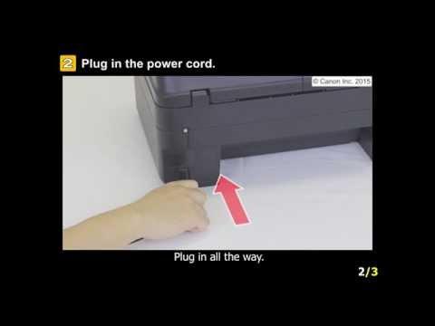 PIXMA MX490: Setting up the printer