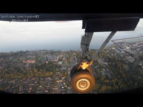 Smooth Sunrise Flight - Alaska Horizon Q400 [N411QX] Vancouver to Seattle - Full Flight HD