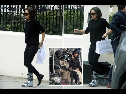 Victoria Beckham limps with foot in a protective boot after Canada ski trip - 247 News