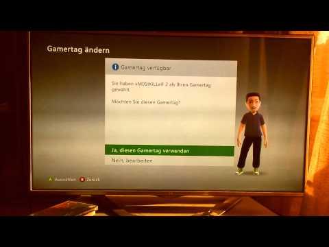 Xbox 360 Kostenlos Gamertag ändern !!