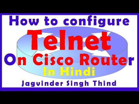 CCNA in Hindi - Cisco Router Telnet Configuration in Packet Tracer in Hindi