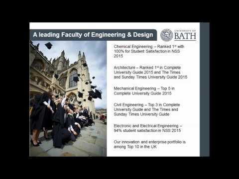 Our portfolio of Engineering & Design MSc courses at Bath
