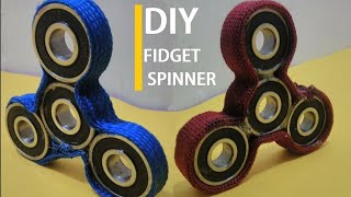 Make your own fidget spinner -super easy and DIY