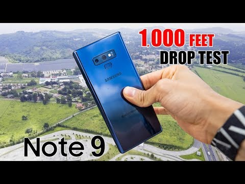 Samsung Galaxy Note 9 DROP TEST - 1,000 FT!  *No Clickbait   (in 4K)