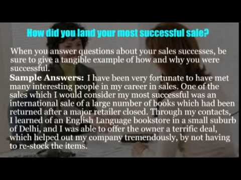 Sales phone interview questions