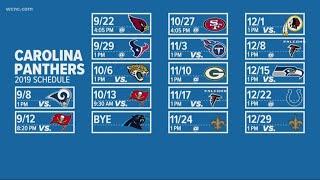 2019 Carolina Panthers regular season schedule released