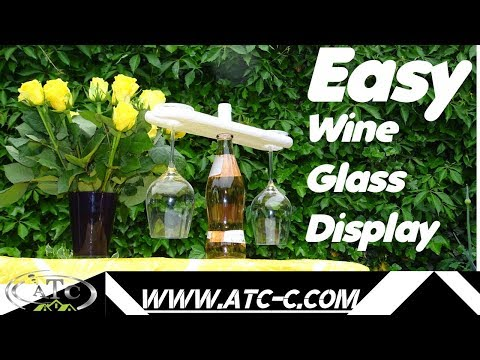 How to create a Wine Glass display from pallets // Easy DIY