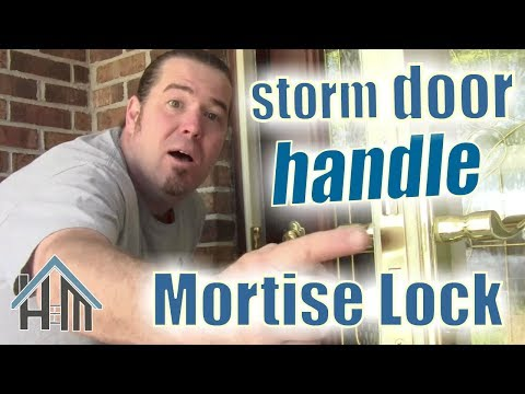 How to replace storm door lock, handle, mortise. Easy! Home Mender