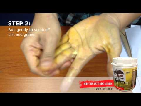 Remove Paint On Hands the EASY way! It's with TUFFDIRT!