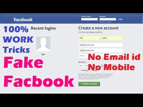 How To Make Fake Facebook Account Just 1 Minute Without Phone Number And Email