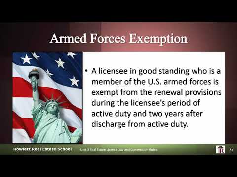 Florida Real Estate License Armed Forces Exemption