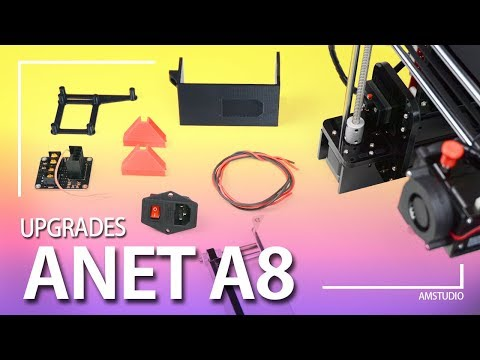 ANET A8 MOSFET AND POWER SWITCH INSTALL + UPGRADES