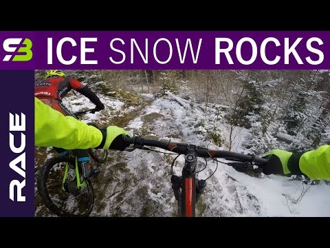 Are Fat Bikes Really Faster On The Snow? Racing Against Them On A Trail Bike...