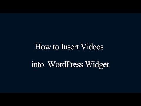 How to insert videos into WordPress Widget