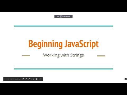 Beginning JavaScript: Working with Strings